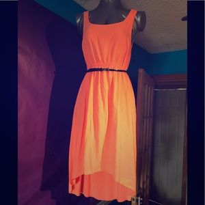 Orange 🍊 Dress with Black Belt